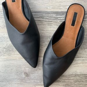 Topshop 'Kilo' Pointy Toe Leather Mule Size 7.5